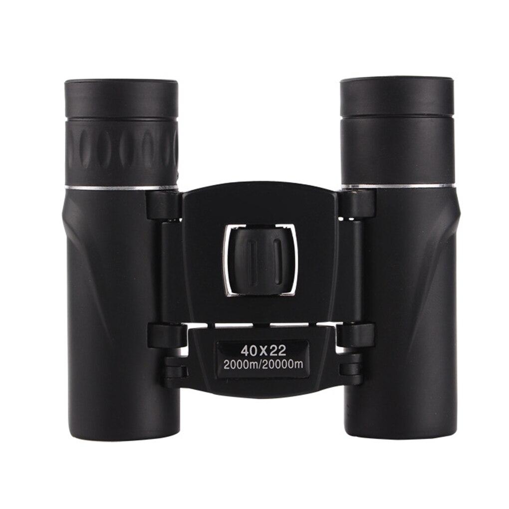 40x22 Field Glasses HD Mini Telescope Portable 40 Times Binocle Binoculars Black Outdoor Travel