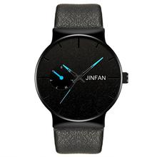 Mode Mannen Zakelijke Horloge Lederen Band Roestvrij Staal Quartz Horloge Luxe Merk Casual Eenvoudige Horloges Zwart