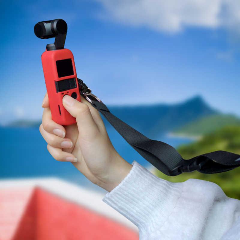 6 kolorów DJI OSMO kieszeń ochraniacz zestaw miękkiego silikonu skrzynki pokrywa z paskiem na szyję smycz dla Osmo kieszeń kardana ręczna