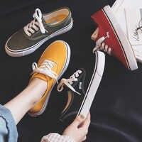 Lona sapatos femininos 2020 nova primavera verão adolescentes sapatos de skate cor doce rua sneaker footware zapatos mujer