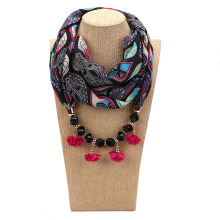 Chiffon Necklace Scarf Female  Fashion Neck Accessories Spring and Summer Sunscreen Silk pendant scarf