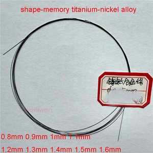 Nickel titanium nitinol chromel alloy NiTi Memory Hyperelastic wire filament 0.8mm 0.9mm 1mm 1.1mm 1.2mm 1.3mm 1.4mm 1.5mm 1.6mm(China)
