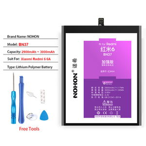 Image 5 - Original NOHON BN35 BN37 BN44 BN45 Battery For Xiaomi Mi A2 Lite Redmi 5 Plus 6 6A Note 5 Cell Phone Replacement Free Tools