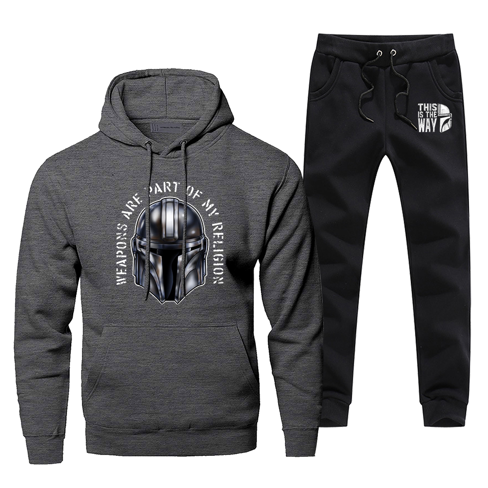 Star Wars Men's Sportswear Sets The Mandalorian Tracksuit 2 Piece Sweatshirt + Sweatpants Set Young Yoda 2020 Spring Men Suits