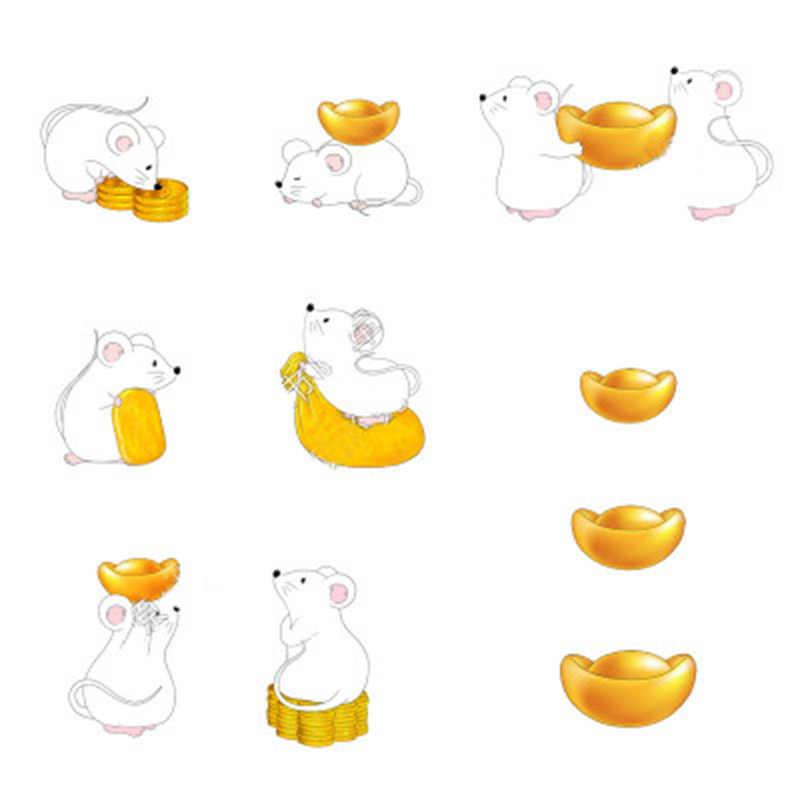 Denaro Fortuna Del Mouse Del Fumetto Ornamenti Ricchi Mouse Piccola Statua Poco Figurine Artigianato Del Desktop Simpatico Animale Decorazione Della Casa 1 Pc