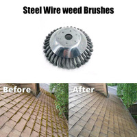 8 Inch Steel Wire Garden Weed Brush Lawn Mower Razors Lawn Mower Eater Trimmer|Tool Parts|   -