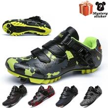 Cycling-Shoes Luminous MTB Mountain-Self-Locking Non-Slip Outdoor Men Couple Large-Size