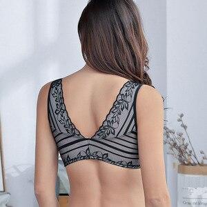 Image 4 - Funklouz乳房切除ブラジャーポケットブラジャーシリコーン人工乳房用90C乳がん女性人工おっぱいフロントジッパー