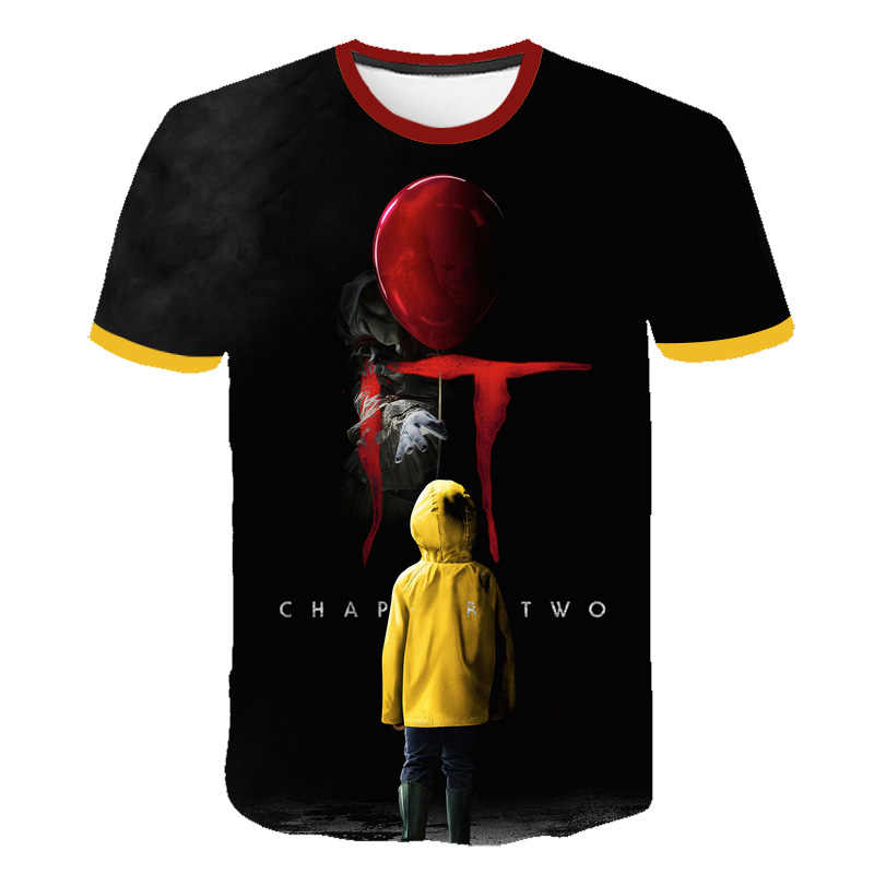 Horror Estate Casual 3D Stampato Stephen King's Dei Bambini T-Shirt manica Corta Bambini Horror Clown ragazzo/ragazza T-shirt