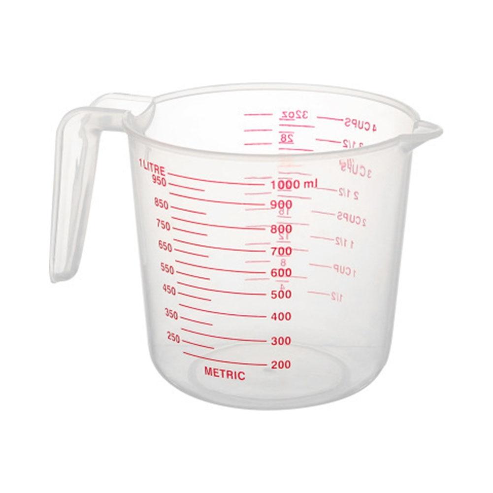 Аа прозрачный пластиковый мерный стаканчик, термостойкая мерная чашка с угловой ручкой и носиком Градуированные Инструменты для выпечки