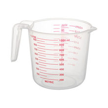 O copo de medição plástico claro do aa, copo de medição resistente ao calor com aperto angular e ferramentas graduadas do cozimento do bico