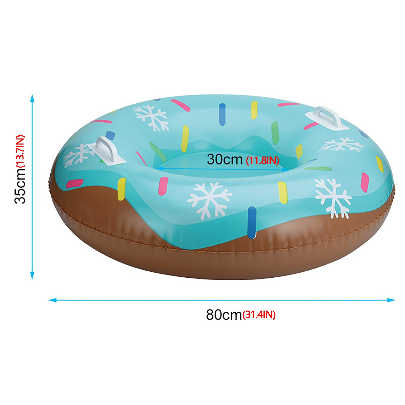 Skiing Ring Pvc Snow Sled Tire Tube For Kid Ski Pad Outdoor Sports With Handle Inflatable Ski Ring Ski Tools In Winter#32