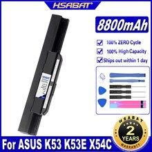 HSABAT A32-K53 A41-K53 8800mAh Da Bateria Do Portátil para ASUS K53 K53E X54C X53S X53 K53S X53E Baterias
