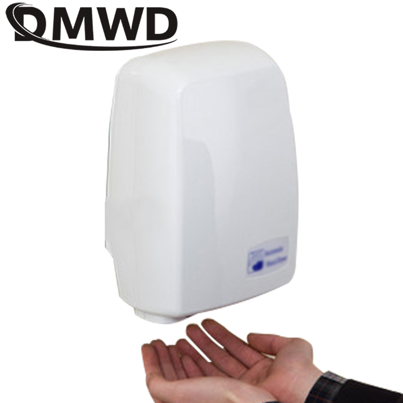 DMWD Hotel Electric sensor jet hand dryer automatic hands dryers Induction hand-drying device Bathroom Hot air wind Blower EU US image