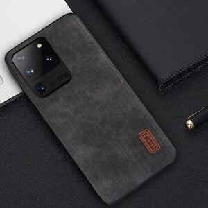 Image 5 - עבור Samsung S20 Ultra מקרה הערה 20 כיסוי S20 בתוספת דיור Note20 סיליקון עמיד הלם ג ינס עור מפוצל חזרה Tpu MOFI מקורי