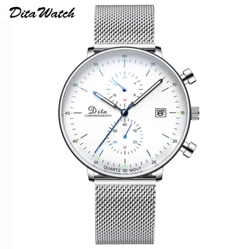 Sport Watch Men Fashion Quartz Mens Watches Top Brand Luxury Stainless Steel Stop Watch Waterproof Luminous Date Wristwatch 2019