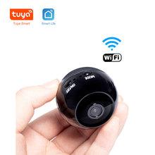 Tuya Smart HD1080P kamera ip Wifi sieci bezprzewodowej zdalna kamera kamera monitorująca przenośny Mini kamera samochodowa kamera samochodowa Audio tanie tanio JXXSKY Windows 7 1080 p (full hd) 2 8-12mm Mini kamery Ip sieci bezprzewodowej CN (pochodzenie) Sufit Black CMOS 1 3MP Sharp