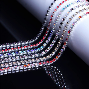 DIY diamantes de imitación autoadhesivos para ropa Strass cadena Strass Hotfix cristal joyería pegamento uñas diamantes de imitación Accesorios