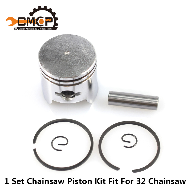 1 Set Chainsaw Piston Kit Fit For 32 Chainsaw 32mm Piston Chainsaw Spare Parts Piston Set