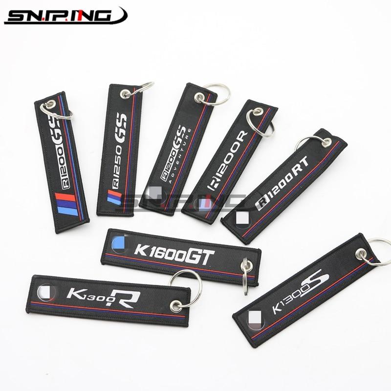 Брелок для ключей с вышивкой для мотоцикла, брелок для BMW S1000R S1000XR S1000RR HP4 K1300R R1200 GS RT K1600GT
