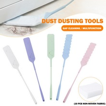 telescopic dust remover brush home bed bottom gap cabinet ceiling window long handle mop duster detachable dust cleaning tool Detachable Cleaning Duster Gap Cleaning Brush Multifunction Non-Woven Dust Cleaner For Sofa Bed Furniture Bottom Cleaning Tool