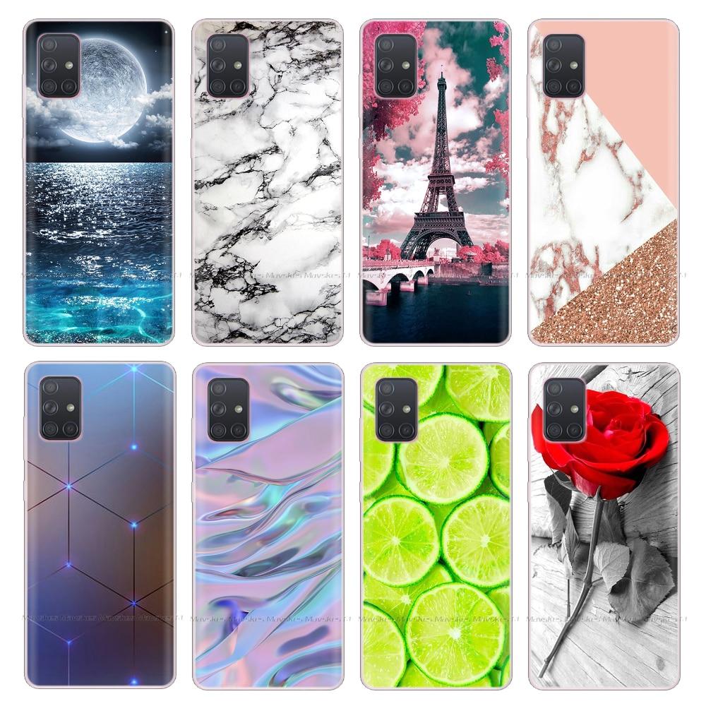 Silicon Case For Samsung Galaxy A71 Case Soft TPU Phone Cases For Samsung A51 Case A 51 Case A71 Back Cover 6.5'' Coque Bumper