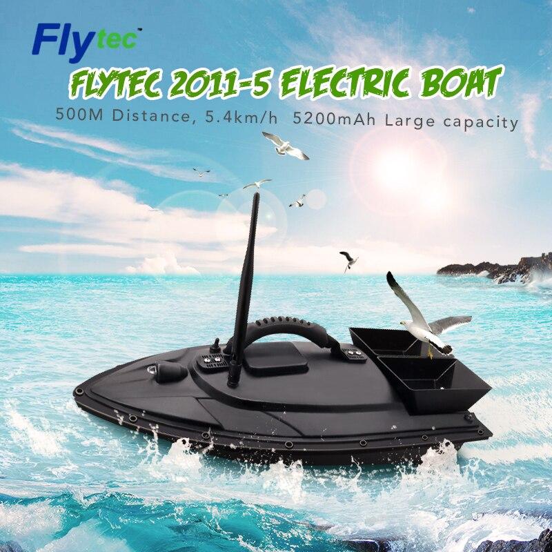 Flytec 2011 5/V007/V500 электрическая рыболовная приманка RC лодка 500 м дистанционный рыболокатор 5,4 км/ч двойные моторные игрушки комплект/версия RTR