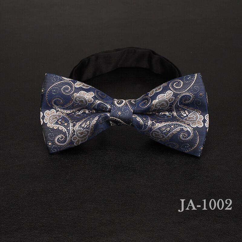 Дизайнерский галстук-бабочка, высокое качество, мода, мужская рубашка, аксессуары, темно-синий, в горошек, галстук-бабочка для свадьбы, для мужчин,, вечерние, деловые, официальные - Цвет: 1002