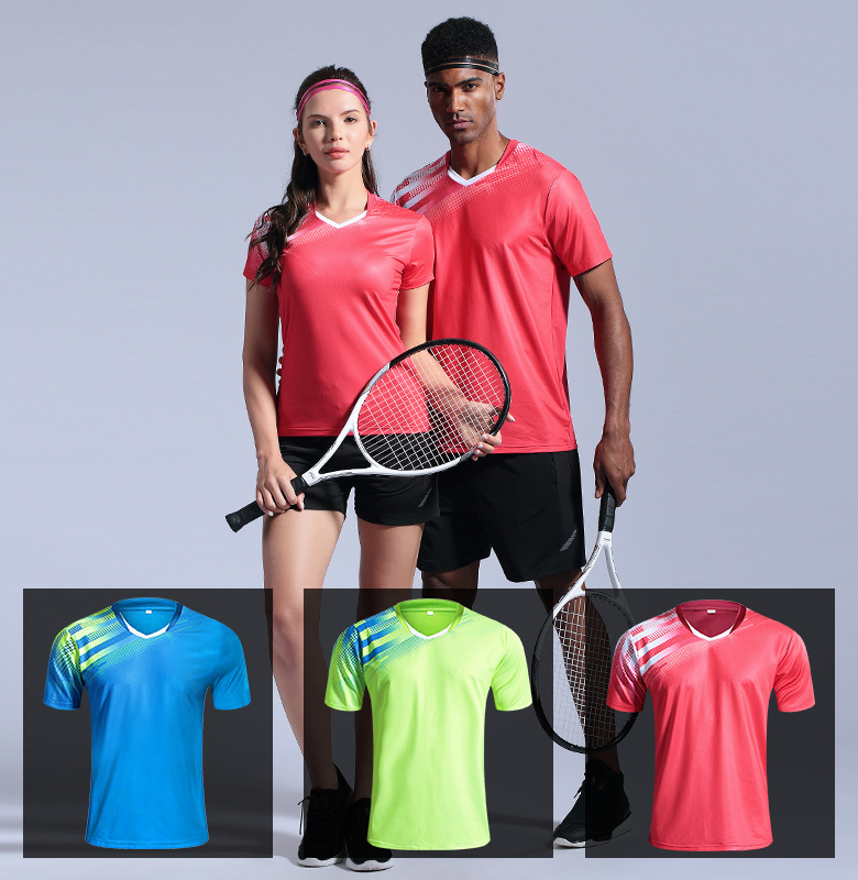Camisa de Tênis Camisa de Badminton Tênis de Mesa Masculina Padel Esporte Correndo Secagem Rápida Respirável Jérsei Treinamento Shrits4