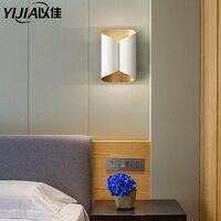 現代のミニマリストの Led アルミランプベッドサイドランプ led ウォールランプルーム浴室ミラーライト直接クリエイティブ通路壁装飾芸術 -