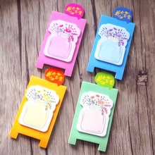 1pack/lot Kawaii Color Vase Notes Four Random Planner Stickers Diary Cute Drawing Sticky