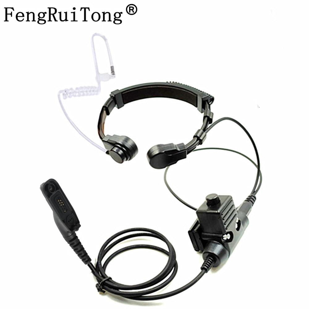 NATO Telescopic Throat Vibration Mic Headset Microphone U94 PTT Cable for Motorola Xir P8268 P8260 P8200 P8660 GP328D DP4400