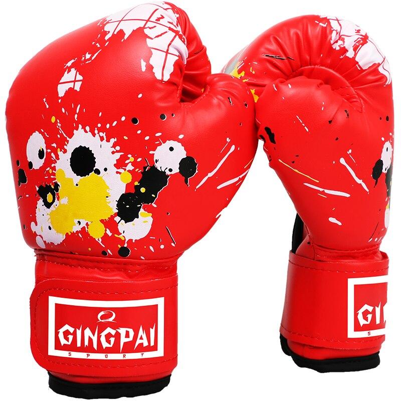 Kid Children half finger Boxing Gloves Mitts Karate Punching Sand bag Junior ММА