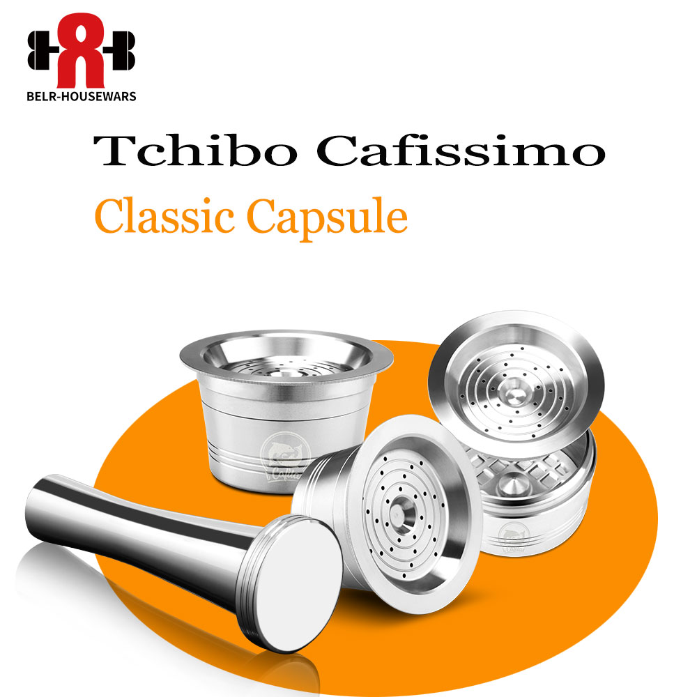 3pcs/lot Tchibo Cafissimo Coffee Capsule Reusable K-fee Coffee Filter Pod Stainless Steel Cup ALDI Expressi Cafeteira Tamper