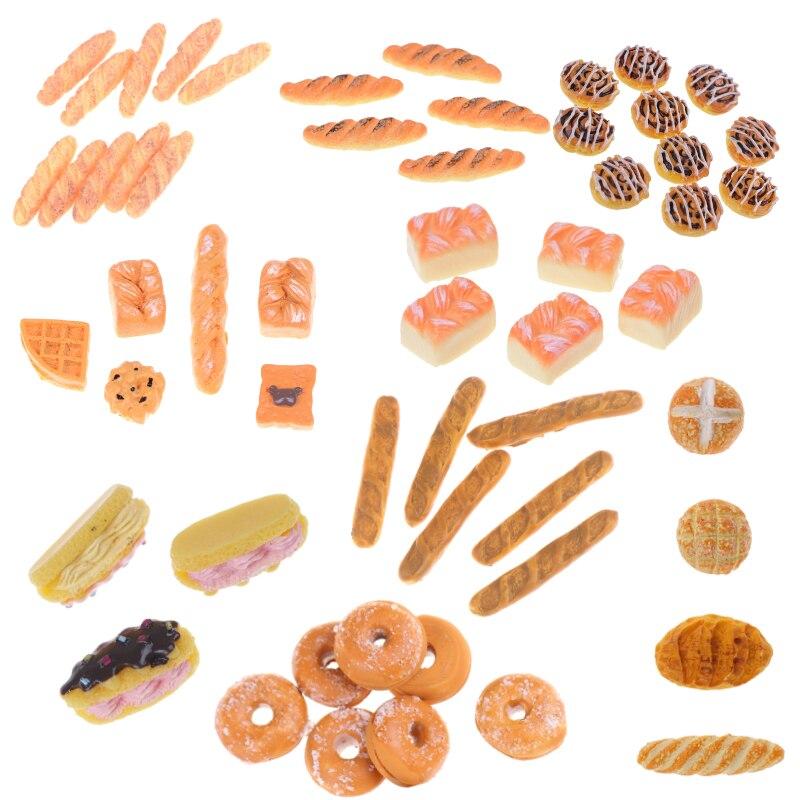 1//12 Dollhouse Miniature Bread// Toast on a Basket Simulation food Kitchen toyu