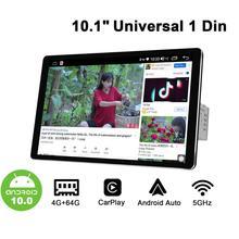 "1280*800 1Din 10.1 ""evrensel Android10 araba Stereo radyo DSP Carplay DSP SPDIF Subwoofer 5g wifi optik çıkış bluetooth 5.1 DAB"