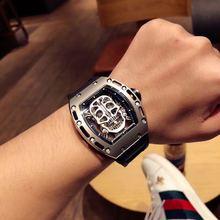 2020 Richard automatyczny zegarek mechaniczny RM edycja limitowana męskie zegarki Top marka luksusowy zegarek na rękę pasek silikonowy rocznica tanie tanio CHUHAN 5Bar CN (pochodzenie) Klamra Limitowana edycja Mechaniczna Ręka Wiatr Automatyczne self-wiatr 12inch Tytanu Szafirowe