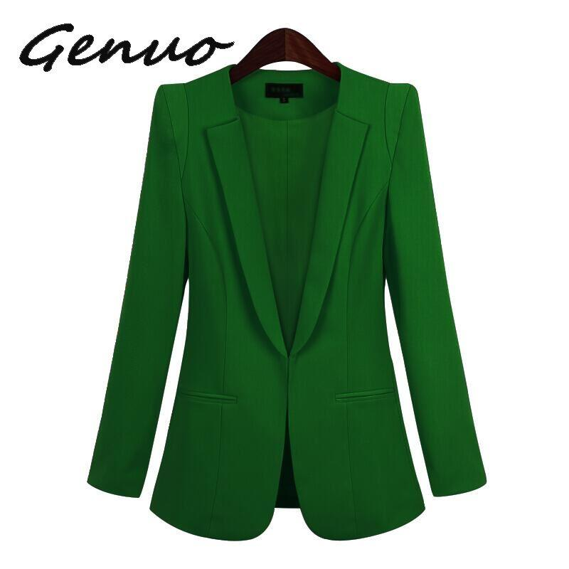 2019 New Plus Size Womens Business Suits Spring Autumn All-match women Blazers Jackets Short Slim long-sleeve Blazer Women Suit