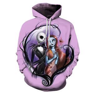 Image 4 - The Nightmare Before Christmas Jack czaszka Cosplay bluza z kapturem mężczyźni kobiety moda bluza z kapturem bluzy Halloween kostiumy topy