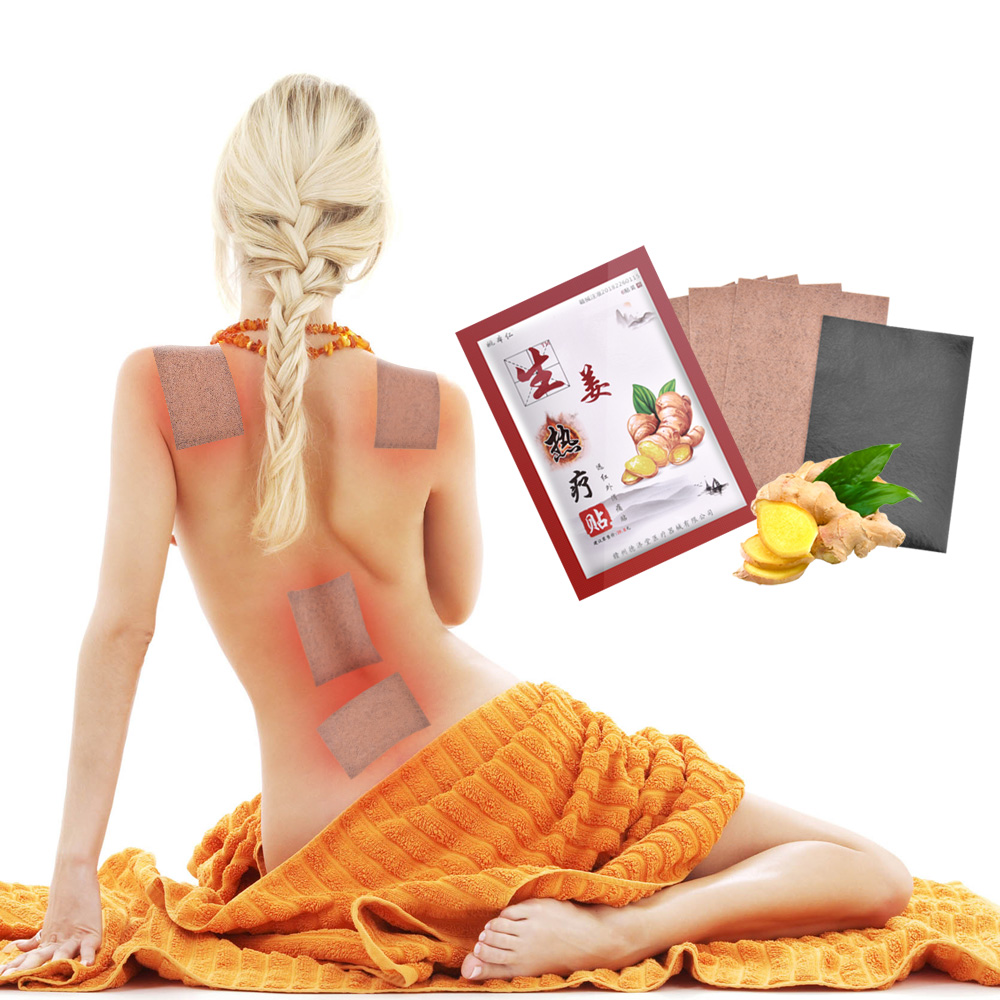 Tradition Chinese 6PCS Ginger Lymphatic Detox Patch Ginger Pads Improve Sleep Patches Beauty Slimming Patch Herbal Pads