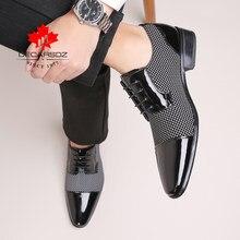 Hommes chaussures habillées hommes printemps et automne nouvelle marque de mode de mariage hommes chaussures noir blanc correspondant Design classique mâle chaussures formelles
