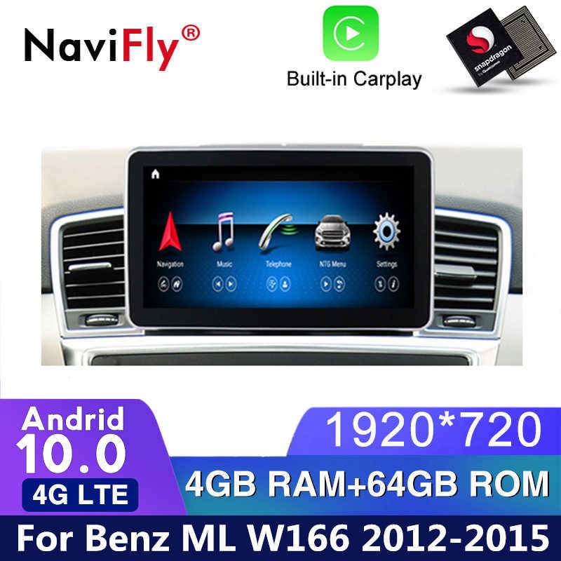 4G Lte Android 10.0 Auto Dvd Radio Voor Mercedes Benz Ml-Klasse W166 Ml 2012 - 2015 NTG4.5 car Multimedia Player Gps Navigatie Bt