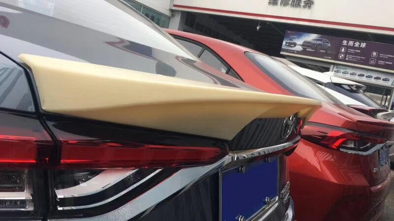 For <font><b>2019</b></font> <font><b>toyota</b></font> <font><b>corolla</b></font> <font><b>spoiler</b></font> TRD style high quality ABS Material car resr wing lip <font><b>spoiler</b></font> by Primer Color image
