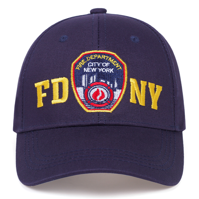 2020 New Fashion Shield Embroidery Baseball Cap Fashion FDNY Embroidery Dad Hat Adjustable Cotton Wild Hats Couple Universal Cap
