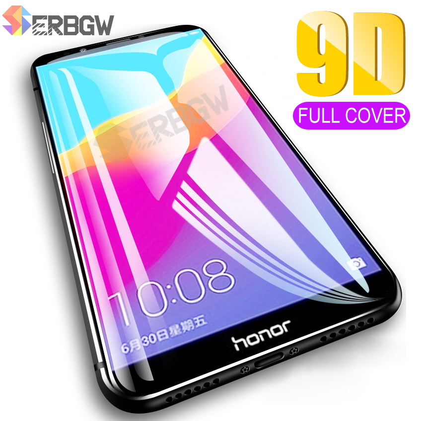 9D Full Cover Protective Glass For Huawei Honor 7A 7C 8A 8C 8X 9X Tempered Glass For Honor Play 8 9 Lite Screen Protector Film