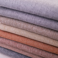Solid Linen Fabric Plain Polyester Material For Sofa Curtain Home Furniture DIY Sewing