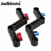 Jadkinsta 새로운 조절 레버 Z 형 오프셋 라이저 클램프 마운트 브래킷 알루미늄 합금 15mm로드 DSLR 어깨
