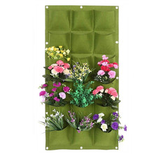 6/7/9/18 Pocket Vertical Grow Bags Hanging Wall Planting Bag Flower Growing Container Planter Pocket For Home Decoration
