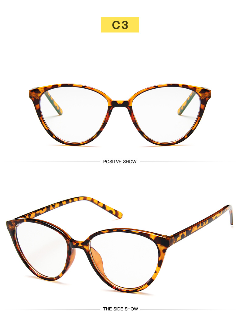 New Retro Cat Eye Women Glasses Frame Anti Blue Light Lady Eyeglasses Frame myopia Vintage Clear Glasses Optical Spectacle Frame (9)