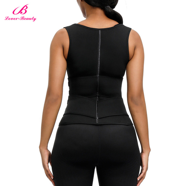 Lover Beauty Women Neoprene Waist Trianer Vest Double Waist Belt Slimming Corset Sauna Sweat 9 Steel Boned Body Shaper 4